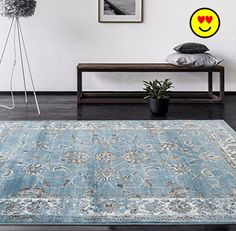 #furniture Our #4535 Oriental #Blue rug selection of elegant, exquisite, beautifully modern rugs to add the perfect finishing touch to your living room, dining ro...