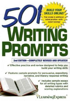 501 Writing Prompts features writing prompts that simulate actual standardized test questions from exams including the SAT, ACT, and GRE. This book is designed to help students gain confidence when fa