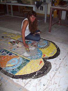 Mural Escuela secundaria de Monte Rincon. Taller de mosaico de Villa Gesell.