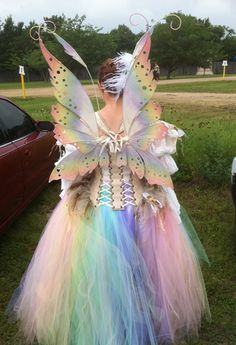 My new Bubble Fairy costume out at Scarborough Faire! The fairy wings are a new design called Hannah Titania. All images are copyrighted and are NOT to . Bubble Fairy Costume back