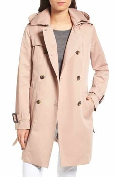 London Fog Heritage Trench Coat with Detachable Liner (Regular   Petite)  (Nordstrom Exclusive 43e77c91332e