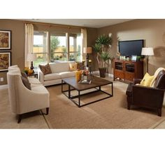 Model Home Decor--love the style and color scheme
