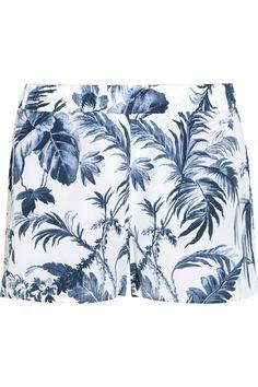 Equipment - Landis printed washed-silk pajama shorts 47e8396c5