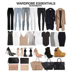 As requested, here's my take on WARDROBE ESSENTIALS. I've done this one time before but it was a long time ago. Jeans in every color and tees and tanks in neutrals. Two pair of pumps, one in nude and...