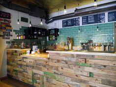 Inside of Laauma, a vegan cafe in Berlin