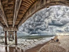 Storm On St Augustine Beach