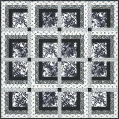 """Savoy Quilt Pattern by Bear Creek Quilting Company.  Free PDF dowload pattern. Finished size 62"""" x 62""""."""