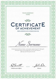 We wish you a great future. Blank Certificate, Certificate Of Achievement, Certificate Design, Certificate Templates, Course Completion Certificate, Will And Testament, Free Psd Flyer Templates, Club Flyers, School