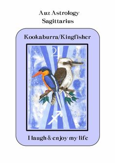He has a distinctive laughing call that when heard makes one feel like laughing along with him. Stirring the joy that lives deep within your being. When you hear a Kookaburra/Kingfisher remember to allow yourself to laugh for laughter and joy are the very essence of our being. Auz Astrology-Australian Animal Zodiac.