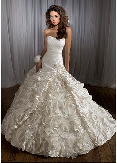 Elegant Taffeta A-line Strapless Neckline Wedding Dress  230 Gown Wedding 72c9a1a56854