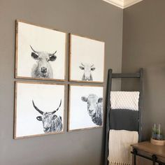 """These $12 DIY Cow Prints are so udderly adorable  Click the link in our profile for the full how-…"""""""