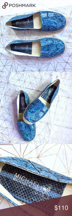 NWOT Michael Kors for Saks espadrilles - Size: 7 - Material: leather  - Condition: NWOT, never worn - Color: blue, tan/cream & black - Style: slip-on espadrilles  - Extra notes: so beautiful, seriously   💥💥💥OFFERS WELCOME💥💥💥 Michael Kors Shoes Espadrilles