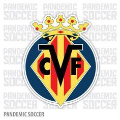 Villareal CF Spain Submarino Vinyl Sticker Decal Adhesive Vinyl, Pop Art, Spain, Decals, Ebay, Stickers, Color Print, Soccer, Design