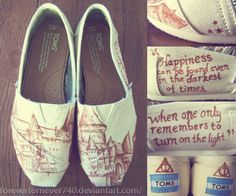 Harry Potter Toms!!! If anyone wants to buy me an early birthday present...I wouldn't turn these down!
