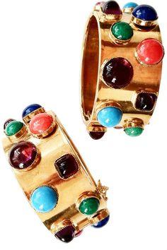 Vintage William DeLillo Cabochon Bracelets