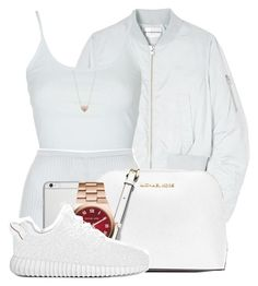 """ Heart on my sleeve, I need you "" by mindlesspolyvore ❤ liked on Polyvore featuring Won Hundred, Topshop, MICHAEL Michael Kors, Native Union, Michael Kors and Kenzo"