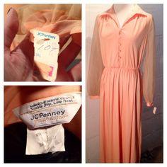 peach dress, available on IG
