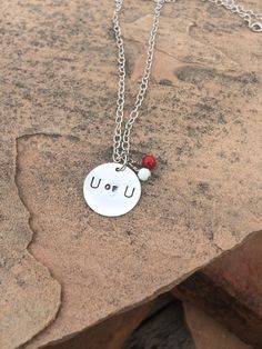 U of U University of University Basketball or Football Necklace, U of U Necklace, Blingy charm Utah Necklace  This listing is for a University