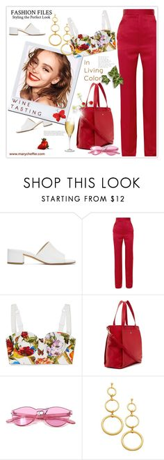 """Girls' Trip: Wine Tasting"" by mcheffer ❤ liked on Polyvore featuring Maryam Nassir Zadeh, Haider Ackermann, Chanel, Dolce&Gabbana, Riedel, girlstrip and WineTastingOutfit"