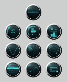 Free Dashboard Elements PSD - Make your next design rock like a fighter jet