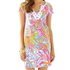 BNWT Brewster Dress in Scuba to Cuba I'm looking for another dress in this print as well!  This dress is brand new, it just is a little snug.  Price is firm bc I'm trying to get back what I paid and get this dress or another in this print in my size. Lilly Pulitzer Dresses