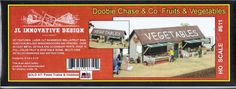Doobie Chase & Co Fruits and Vegetables Model Railroad Building HO Scale #611