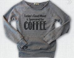 Coffee Sponsored  Eco off the shoulder sweatshirt