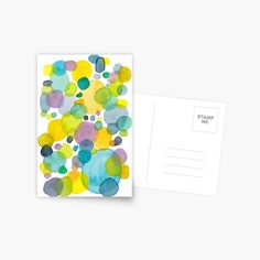 'watercolor green bubbles spring pattern' Greeting Card by Florcitasart Green Bubble, Card Patterns, Card Sizes, My Drawings, Original Artwork, Bubbles, Greeting Cards, Stamp, Watercolor