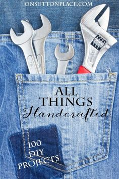 100 easy DIY and handcrafted project ideas all in one place! Includes crafts, decor, sewing, and more! Presented by All Things Creative.
