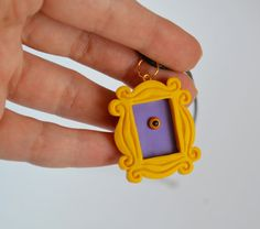 FRIENDS tv show jewelry- peephole frame - Friends frame -tv series jewelry - TV show jewelry - Nonah Bernardeschi Friends Series, Friends Tv Show, Clay Earrings, Clay Jewelry, Jewellery, Clay Keychain, Framed Tv, Friends Wallpaper, Polymer Clay Crafts