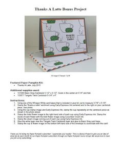Stampin' Up! Paper Pumpkin July 2015. PDF document included for Bonus Project. Debbie Henderson, Debbie's Designs