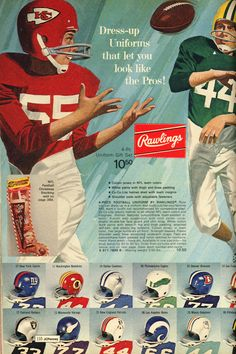 06121a18c Boys  NFL unforms from the 1972 J.C. Penney Christmas Catalog Sport Football
