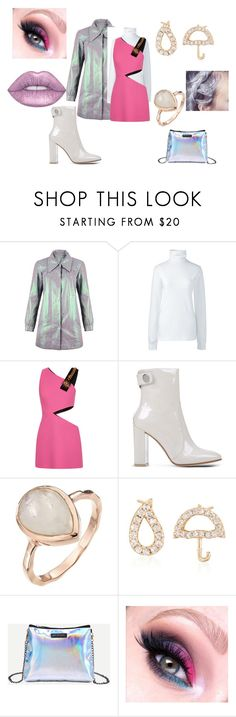 """""""Iridescent  Matter"""" by thepoetesscloset ❤ liked on Polyvore featuring .mcma., Lands' End, FAUSTO PUGLISI, Gianvito Rossi and Ross-Simons"""