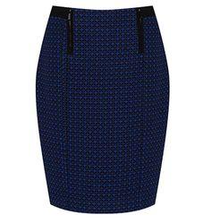 Tweed Zip Detail Pencil Skirt