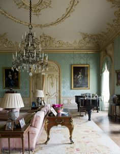 15 Stunning Photos of Highclere Castle, the Real Downton Abbey - 13 Amazing Photos of the Real Downton Abbey- TownandCountrymag… - English Country Decor, French Country Living Room, The Real Downton Abbey, Downton Abbey House, Deco Rose, English Interior, Boho Home, Elegant Living Room, Drawing Room