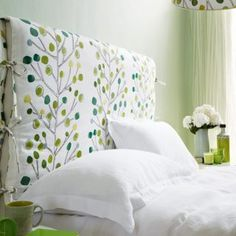 We have of bedroom pictures to inspire you, whether you want a country bedroom, modern bedroom or traditional bedroom scheme.Discover recipes, home ideas, style inspiration and other ideas to try.Fern green and w Diy Bed Headboard, Headboard Cover, Headboards For Beds, Upholstered Headboards, Home Bedroom, Bedroom Furniture, Bedroom Decor, Closet Bedroom, Bedroom Ideas