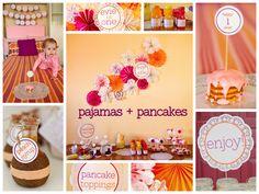 Pajamas + pancakes