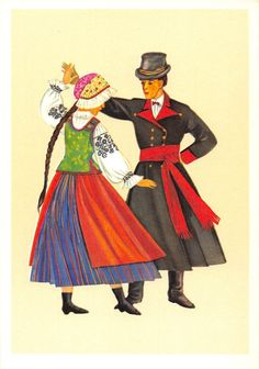 Poland Trachten Costume Polskie Stroje Ludowe Stroj Wilanowski Dance   eBay Family Roots, Great Paintings, Historical Images, Folk Costume, Art And Architecture, Folklore, Traditional Outfits, Culture, Dance