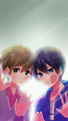 MakoHaru ♡ Makoto Tachibana x Haruka Nanase (Free! Eternal Summer and High☆Speed! Anime Boys, Manga Anime, Anime Art, Otaku, Anime Behind Glass, Haru And Makoto, Free Makoto, Tsurezure Children, Anime Lock Screen