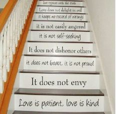 Decorate your stairs with scripture #bible Oh my gosh oh my gosh oh my gosh!!!!!!! Totally going in my house !!!!!!!!!!