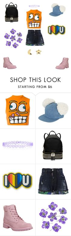 """""""yumi"""" by versa-cheese ❤ liked on Polyvore featuring Jeremy Scott, Francesco Ballestrazzi, Monsoon, MICHAEL Michael Kors, Anya Hindmarch, Dsquared2, Timberland and Erica Weiner"""