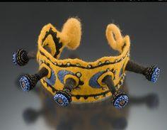 Felt bracelet by Lisa Klakulak of Strongfelt
