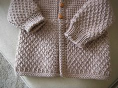Brown Beige Taupe Crochet Boy Sweater with by ForBabyCreations