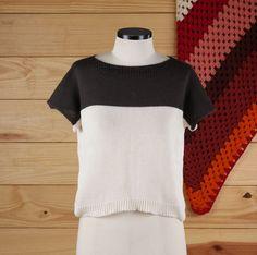camiseta bicolor - blusas elô bertô tricô