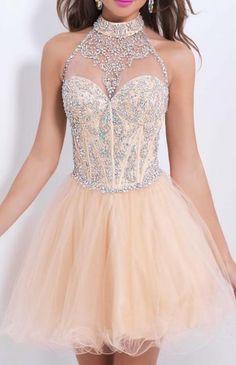 Champagne Homecoming Dress