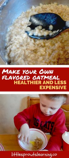 Oatmeal is amazing, delicious, inexpensive, warm, nourishing, and filling. Making oatmeal for my kids is much less expensive than using processed cereal.