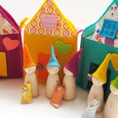 Waldorf toys all natural Sweet little travelling by FeeVertelaine, $29.25