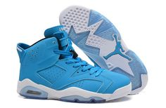 Nike Air Jordan AJ6 Retro Jordan 6 Basketball Shoes Men And Women Shoes Double Leather Blue|only US$98.00 - follow me to pick up couopons.