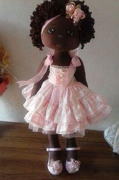 Doll in Pink Dress Pretty Dolls, Cute Dolls, Beautiful Dolls, My Child Doll, Black Baby Dolls, Sewing Dolls, Doll Maker, Waldorf Dolls, Soft Dolls
