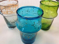 Moroccan Artisan Tea Glasses Shot Cup in assorted by Morokko, $9.45